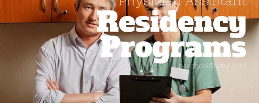 Postgraduate PA Residency and Fellowship Programs 2017