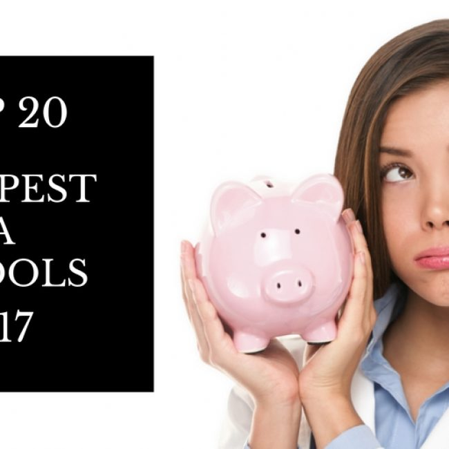 Top 20 Cheapest PA Schools in the US